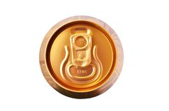 Beer can top lid on white background stock photography