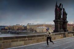 PRAGUE, CZECH REPUBLIC - FEBRUARY 21, 2013: the Saint Charles br stock image