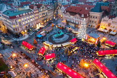 PRAGUE,CZECH REPUBLIC-JAN 05, 2013: Prague Christmas market Stock Photos