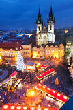 PRAGUE,CZECH REPUBLIC-JAN 05, 2013: Prague Christmas market Royalty Free Stock Photos