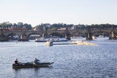Fishermen near Charles bridge royalty free stock photography