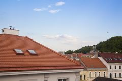 The roofs of Prague stock images