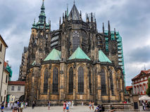 Prague, Czech Republic - June 18, 2012: Cathedral of Saint Vite in Prague royalty free stock photo