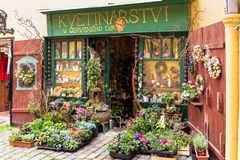 Flower shop in Prague Royalty Free Stock Photography