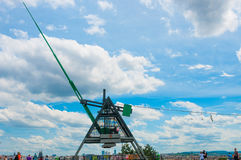 PRAGUE, CZECH REPUBLIC - JUNE 17, 2016: Giant Metronome on a hill Stock Photography