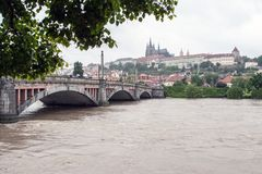 Prague, Czech Republic - June 3: Massive Rain Caused Floods in Czech Capital City on june 3, 2013. Stock Photography