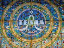 Tesla Radio Logo on a stained glass window stock photos