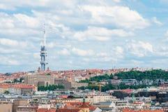 PRAGUE, CZECH REPUBLIC - JUNE 17, 2016: View on the Zizkov Television Tower Stock Photo