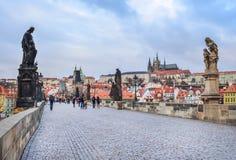 Prague, Czech Republic, Karluv most Stock Image