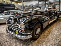 Oldtimer Mercedes Benz 770. PRAGUE, CZECH REPUBLIC - MARCH 8 2017: Oldtimer Mercedes Benz 770, from 1939-1952, showcased in the National Technical Museum of Royalty Free Stock Photos