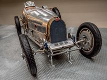 Oldtimer racing car Bugatti 51. PRAGUE, CZECH REPUBLIC - MARCH 8 2017: Oldtimer racing car Bugatti 51 from 1931, National Technical Museum of Prague Royalty Free Stock Photography