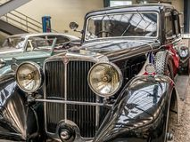 Oldtimer Tatra 80. PRAGUE, CZECH REPUBLIC - MARCH 8 2017: Oldtimer Tatra 80, from 1935, showcased in the National Technical Museum of Prague Royalty Free Stock Images