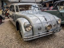 Oldtimer Tatra 77a. PRAGUE, CZECH REPUBLIC - MARCH 8 2017: Oldtimer Tatra 77a, from 1937, showcased in the National Technical Museum of Prague Stock Images