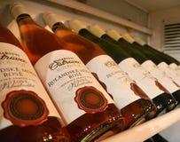 PRAGUE, CZECH REPUBLIC - MARCH 20, 2017: Pinot noir wine. PRAGUE, CZECH REPUBLIC - MARCH 20, 2017: Rulandske modre pinot noir wine bottles in fridge in prague Royalty Free Stock Photo