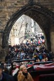 Prague, Czech Republic - March 10th 2018 - crowd of people royalty free stock photo