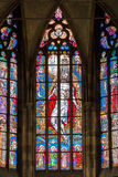PRAGUE, CZECH REPUBLIC - 12 may, 2017: The beautiful interior of the St Vitus Cathedral in Prague, Czech Republic Royalty Free Stock Photography