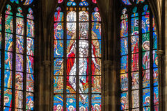 PRAGUE, CZECH REPUBLIC - 12 may, 2017: The beautiful interior of the St Vitus Cathedral in Prague, Czech Republic Royalty Free Stock Image