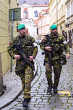 PRAGUE, CZECH REPUBLIC - MAY 16: Czech Army soldiers in full uni Stock Image