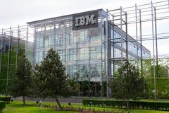 IBM company logo on headquarters building Royalty Free Stock Photography
