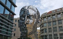 PRAGUE, CZECH REPUBLIC - 12 MAY 2017: Modern art installation of Royalty Free Stock Photography