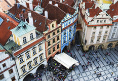 PRAGUE, CZECH REPUBLIC - MAY 2015: Prague Old Town Square in Czech Republic. Stock Photography