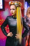PRAGUE, CZECH REPUBLIC - MAY 2017: The wax figure of American singer, songwriter, and actress Lady Gaga in the Madame Tussaud Muse. Um in Prague, Czech Republic Stock Photos