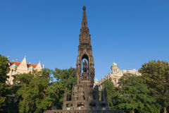 Prague, the Czech Republic - Monument to Francis I, the first Em Stock Photo
