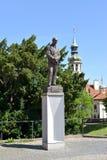 PRAGUE, CZECH REPUBLIC. A monument to the president of Czechoslovakia Edward Benesh Stock Photography