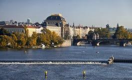 Prague, Czech Republic, The National Theater Stock Photos