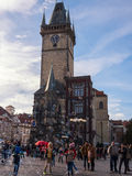 PRAGUE, CZECH REPUBLIC - NOVEMBER 01, 2016: Bubbles, tourist attraction in Prague Old Town Royalty Free Stock Photography