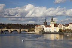 Prague, Czech Republic, Novotny Lavka at Old City Royalty Free Stock Image