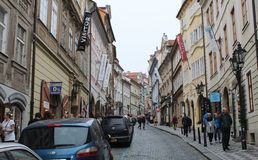 Free Prague; Czech Republic; October 18, 2017; A View Up The Nerudova Street. The Street Leads To The Schwarzenberg Palace; Mala Strana Royalty Free Stock Images - 118612299