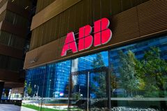 ABB company logo on headquarters  building Royalty Free Stock Photos