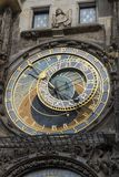 Prague, Czech Republic - October 6, 2017: Astronomical dial of t. He Prague Astronomical Clock on the Town Hall in Old Town Square Stock Photography