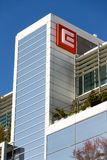 CEZ group company logo on headquarters building Stock Photos