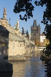 PRAGUE, CZECH REPUBLIC - OCTOBER 13, 2018: The Charles bride from west stock photos