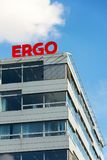 Ergo group from German Munich re insurance companies logo on building of the Czech headquarters Stock Photo