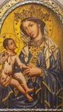 PRAGUE, CZECH REPUBLIC - OCTOBER 12, 2018: The icon of Madonna in church Bazilika svatého Petra a Pavla na Vyšehrade stock photos