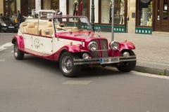 Retro car in Prague Stock Images