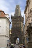 Powder tower in Prague Royalty Free Stock Photo