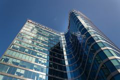 UniCredit Group banking company logo on headquarters building Stock Photos