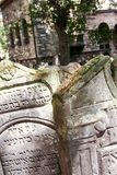 Old Jewish Cemetery. At Prague - Czech Republic - On 07/27/2015 - Old Jewish Cemetery, one of the most important Jewish historical monuments in Prague, Czech Stock Photography