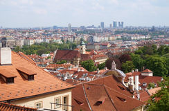 Prague, Czech Republic - old and new buildings. Prague, Czech Republic - Old Town on first plan, modern office buildings on second plan. Great for topics like Royalty Free Stock Images