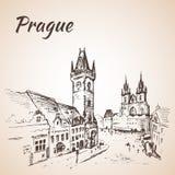 Prague, Czech Republic - old town square. Royalty Free Stock Photo