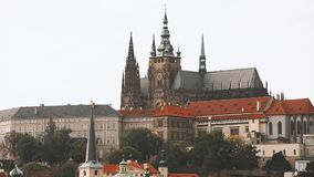 Prague, Czech Republic. Prague Castle And Metropolitan Cathedral Of Sts Vitus, Wenceslaus And Adalbert. UNESCO World. Heritage Site stock video