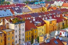 Prague, Czech Republic residential houses stock image