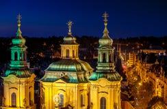 Prague, Czech Republic. Saint Nicholas Cathedral. royalty free stock photo