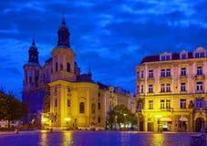 Prague, Czech Republic. Saint Nicholas Cathedral royalty free stock images