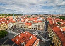PRAGUE, CZECH REPUBLIC - SEPTEMBER 6, 2017. Buildings and Streets of Prague, Czech Republic. Buildings and Streets of Prague, Czech Republic Stock Photo