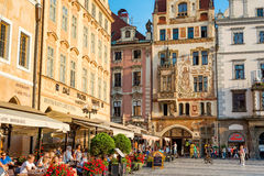 PRAGUE, CZECH REPUBLIC - SEPTEMBER 07, 2016: Cafe and restaurant Royalty Free Stock Photography